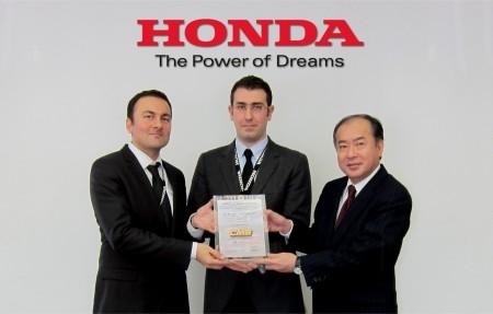 Cmsye Honda Avrupadan Mukemmellik Odulu